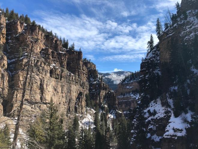 Hanging lake canyon view