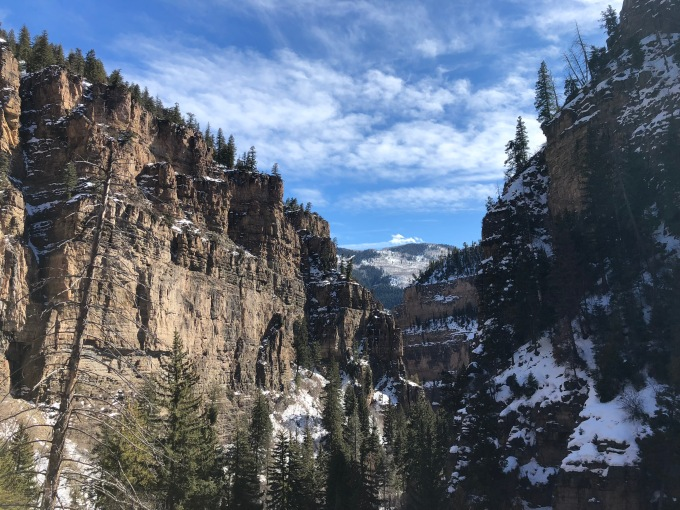 Hanging lake canyon view