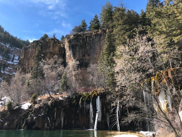Winter view of Hanging Lake