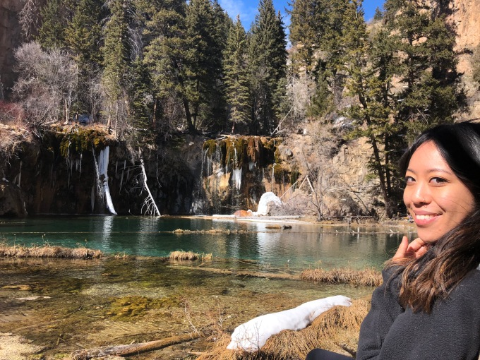 Angela at Hanging Lake
